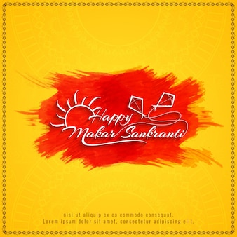 Abstract happy makar sankranti decorative background