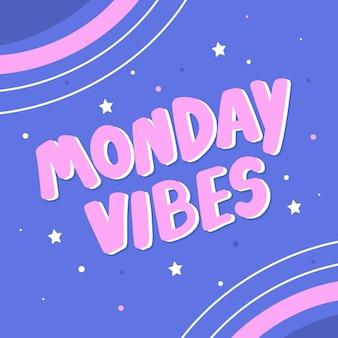 抽象的な幸せな月曜日の背景