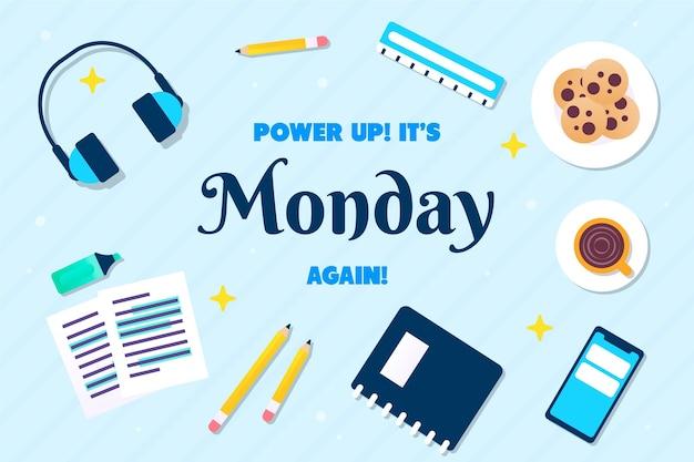Fondo felice astratto di lunedì