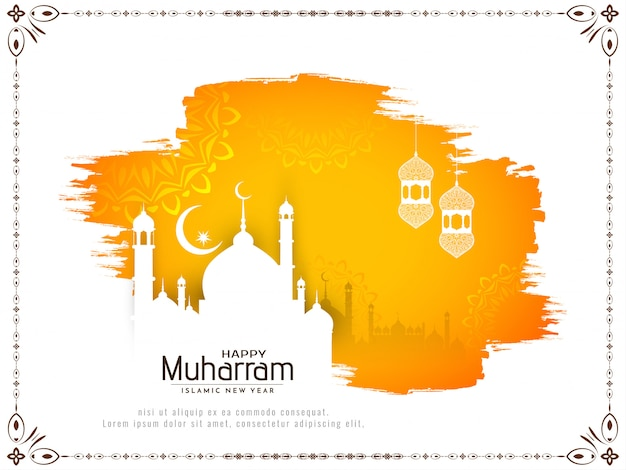 Abstract happy muharram religious background