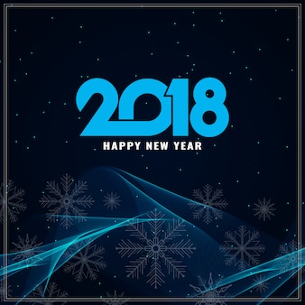 Abstract happy new year 2018 background
