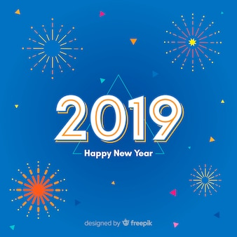 Abstract happy new year 2019 background