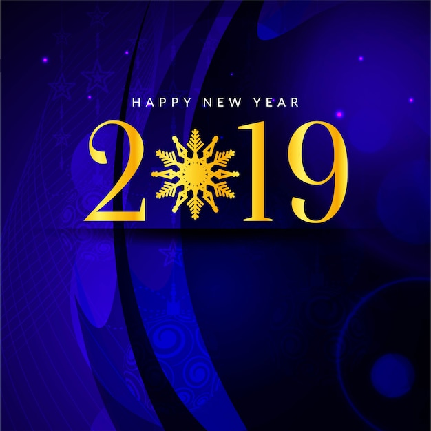 Abstract happy new year 2019 greeting background vector