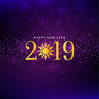 Abstract happy new year 2019 stylish background vector
