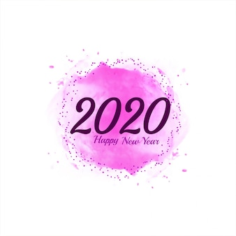 Abstract happy new year 2020 pink background