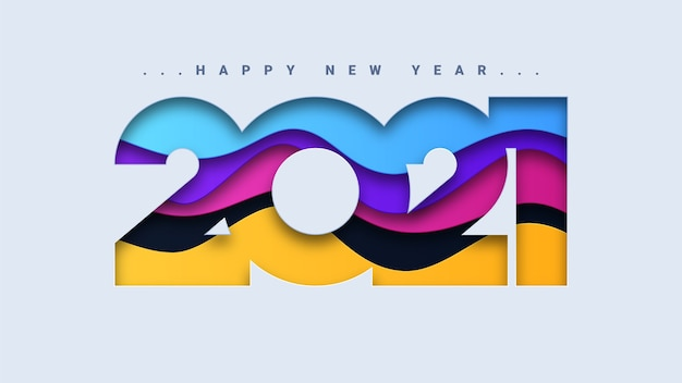 Abstract happy new year 2021 background