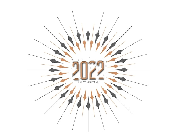 Abstract happy new year 2022 text colorful template greeting card banners, vector illustration.