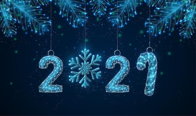 モミの木の枝やおもちゃで抽象的な新年あけましておめでとうございます。