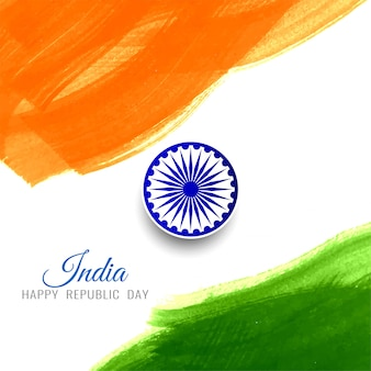Abstract happy republic day indian flag background