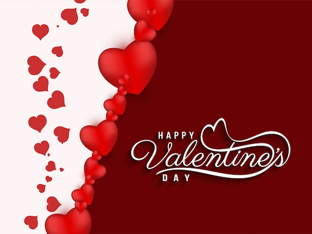 Abstract happy valentine's day beautiful background