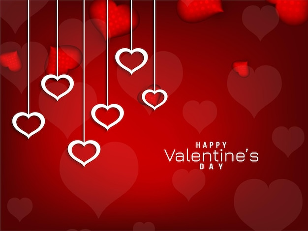 Abstract happy valentine's day red background