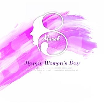 Fondo rosa astratto di giorno delle donne felici
