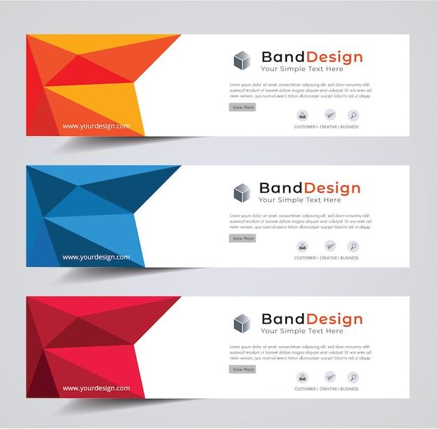 Abstract header banner design vector background.