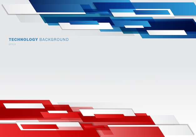 Abstract header shiny geometric shapes technology background