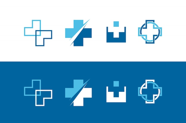 Abstract health cross symbol