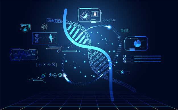 Abstract health dna hud interface