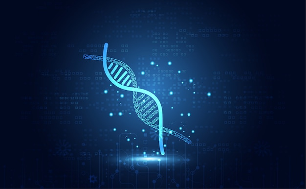 Abstract health medical science dna digital technology