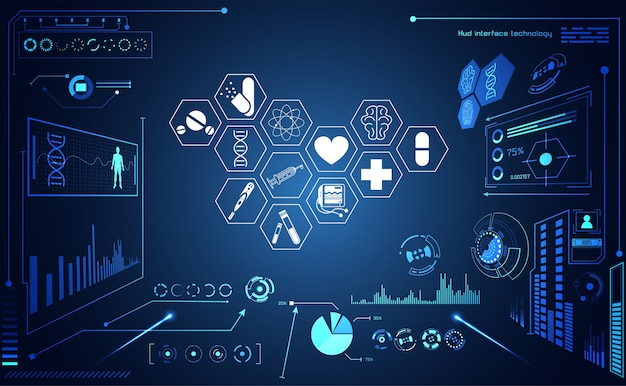 Abstract health medical science healthcare icon interface