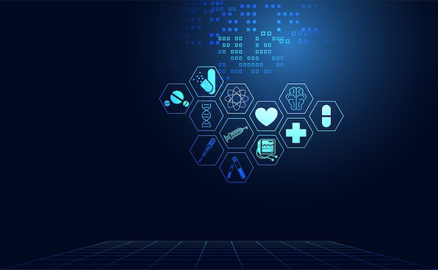 Abstract health medical science healthcare icon