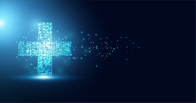 Abstract health science consist health plus digital technology