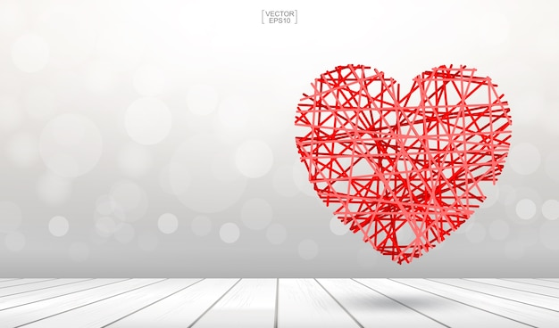 Abstract heart for background.