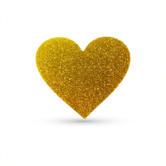 Abstract heart glitters background