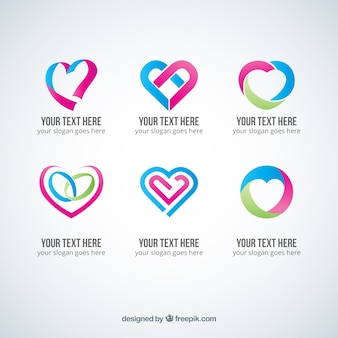 Abstract heart logos