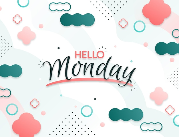 Abstract hello monday background