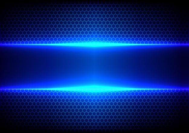 Abstract hex light blue effect blue technology