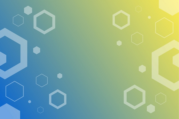 Abstract hexa molecules background