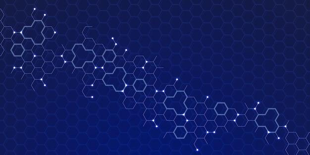 抽象的な六角形の背景、技術多角形の概念