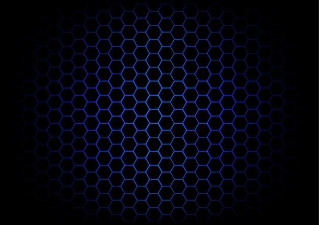 Abstract hexagon dark blue background