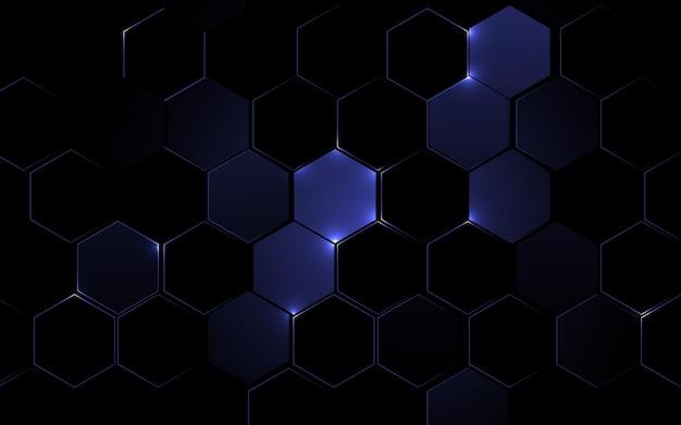 抽象的な六角形の幾何学的なデザインの背景。未来の技術コンセプト。ベクトルイラスト