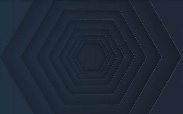 Абстрактный шестиугольник кучи с эффектами тени.