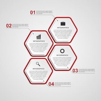 Abstract hexagon infographics template.