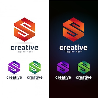 Abstract hexagon letterlogo  template
