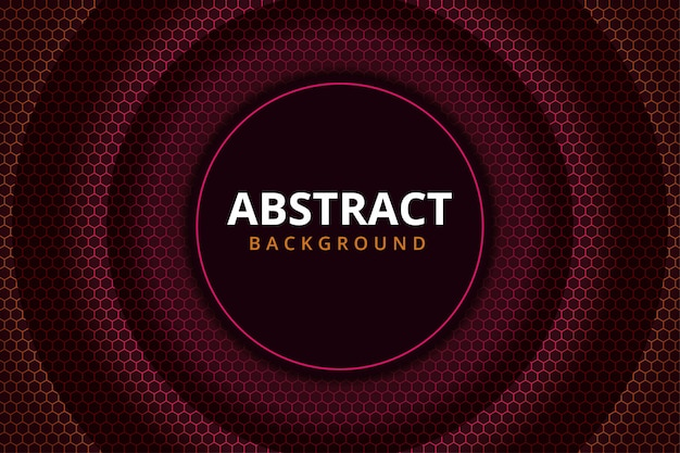 赤いえび茶色の抽象的な六角形金属鋼現代の未来的な背景の壁紙