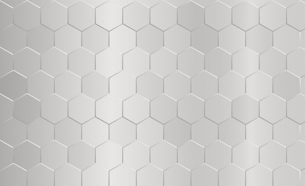 Abstract hexagon pattern gray background.