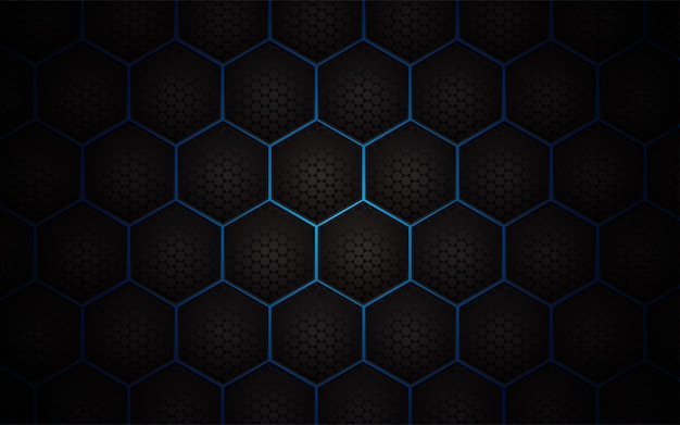 Abstract hexagon pattern on light blue background