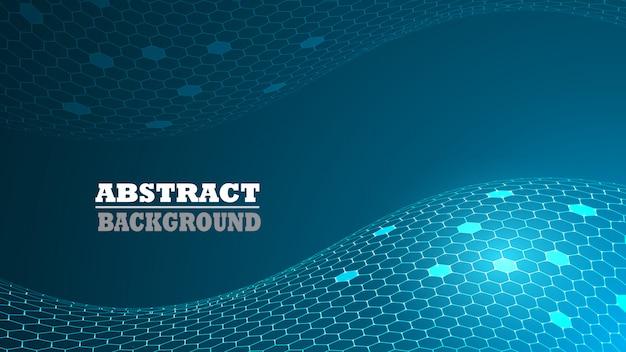 Abstract hexagon pattern modern background. technology