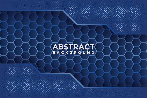 Abstract hexagon pattern with blue overlap.
