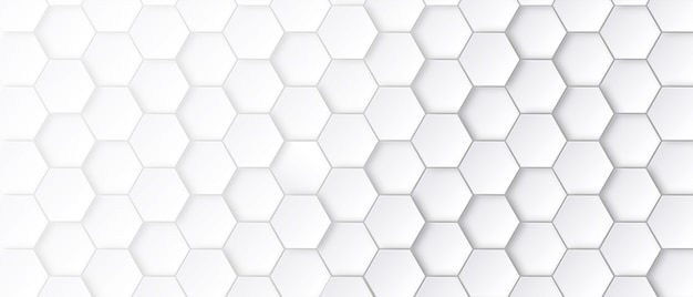Abstract hexagon pattern with white background.
