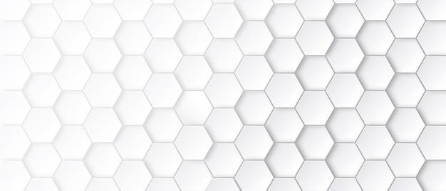 白い背景の抽象的な六角形のパターン。