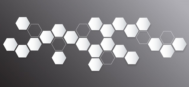 Abstract hexagon and space background