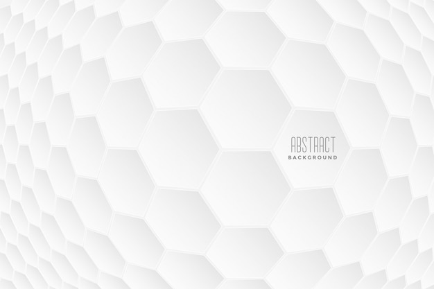 Abstract hexagonal 3d shapes white background