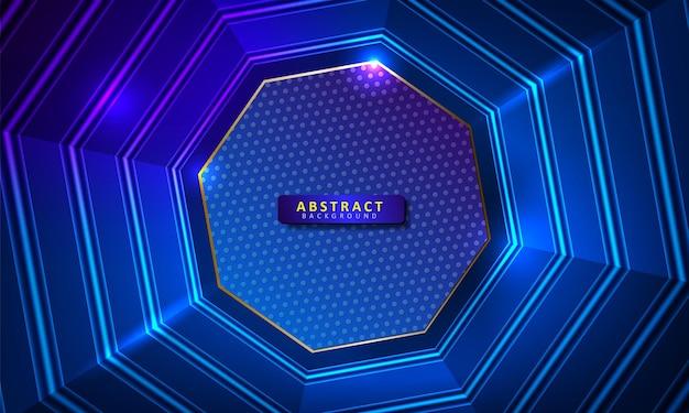 抽象的な六角形の輝きの背景