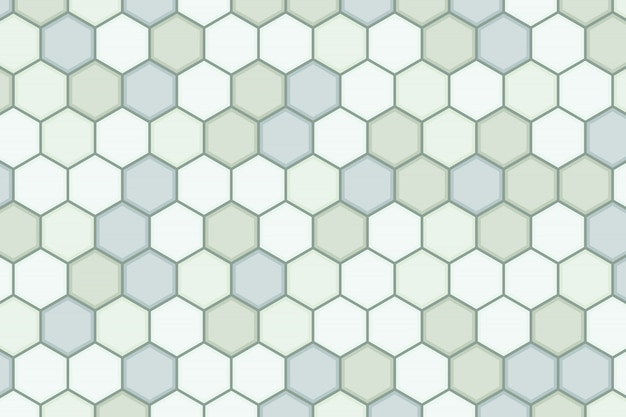 Abstract hexagonal green pattern design of minimal artwork background.