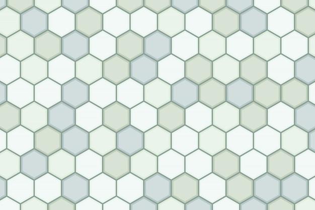 Абстрактный гексагональной зеленый шаблон дизайна фона минимального художественного произведения.