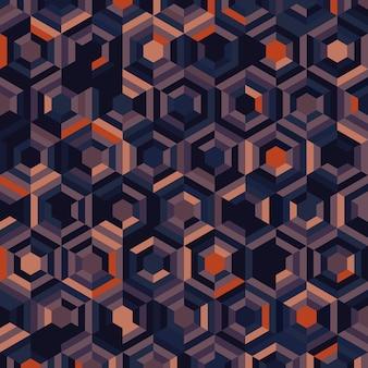 カラースタイルのシームレスなアートワークテンプレートの抽象的な六角形のパターンデザイン。幾何学的要素スタイルの背景の重複。