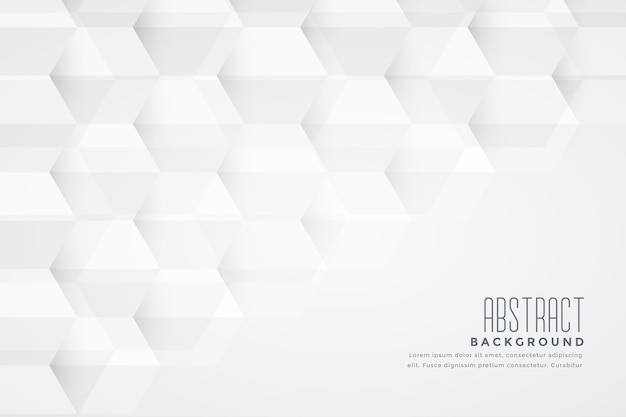 Abstract hexagonal shape geometric white background design